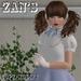 Zan's Little lady set (blouse) (white and pastel)