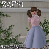 Zan's Little lady set (skirt) (pastel colors and white)