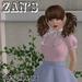 Zan's Little lady set (blouse) (pastel colors and white)