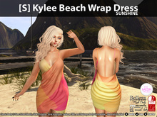 [S] Kylee Beach Wrap Dress Sunshine