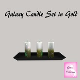 {.Gross Princess.} Galaxy Candle Set in Gold