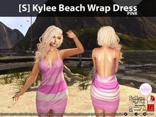 [S] Kylee Beach Wrap Dress Pink
