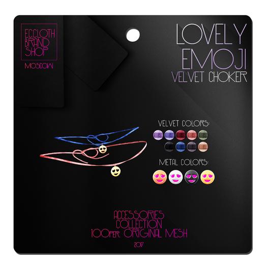 Ec.cloth - Lovely Emoji Choker (add it)