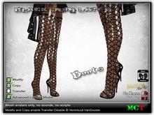 Black Judi Latex Boots