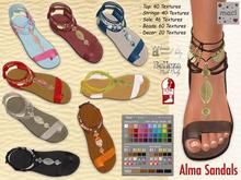 Maci ~ Alma Sandals with HUD (Slink, Maitreya & Belleza Flat Feet)