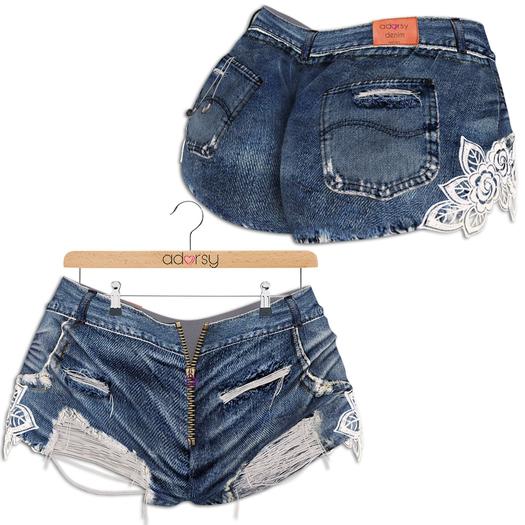 adorsy - Stella Denim Jeans Shorts Blue - Maitreya