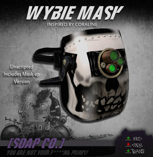 Second Life Marketplace Soap Wybie Mask