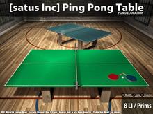 [satus Inc] Ping Pong Table