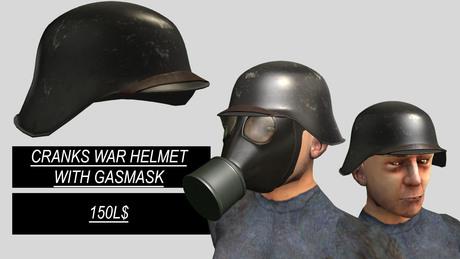 Cranks - War Helmet w/ Gasmask