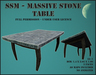 SSM - Massive stone table