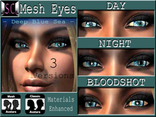 .:S.C:. Peepers - Deep Blue Sea Mesh Eyes