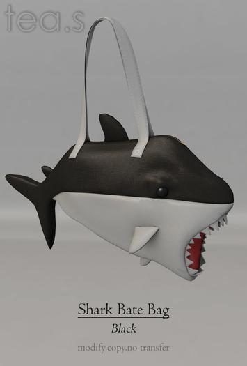 [tea.s] Shark Bate Bag - Black