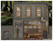 CB26 CAFE PHOTO BACKDROP PROP AND SCENERY FILLER