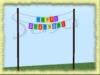 Susu happy birthday banner with holder