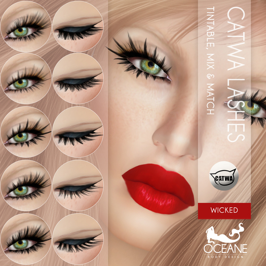 PROMO! Oceane - Mesh Lashes Mix & Match Wicked [Catwa] 5&5