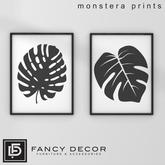 Fancy Decor: Monstera Prints
