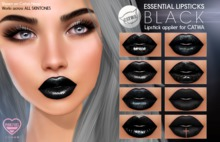 [PF] CATWA LIPSTICK - Essential (Blacks)