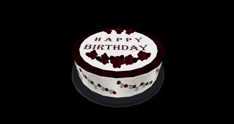 Fabulous Second Life Marketplace Goth Birthday Cake Funny Birthday Cards Online Aeocydamsfinfo
