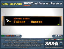 SHX - SHOUTcast & ICEcast Receiver SRN-ULP200
