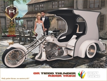 PAINT THEME FOR OR T1200 THUNDER RIDER - White Sky - Box