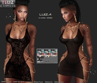 "YELIZ MESH ""LUIZA"" Chained Dress with HUD"