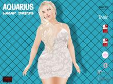 [F] Aquarius Wrap Dress - Whitev - Fitmesh