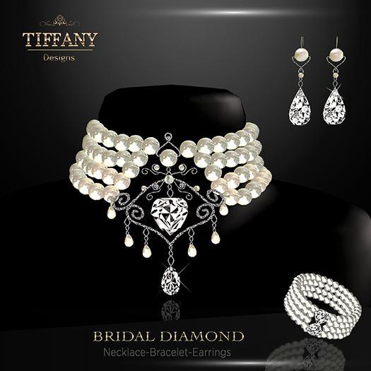 Second Life Marketplace Td Bridal Diamond Jewelry Set