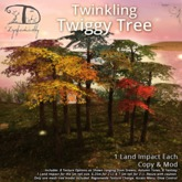 [DDD] Twiggy Twinkle Tree - 1 LI 5m tall Tex. Change & More!