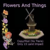 F&T - Dutch Windmill with Spring Bulbs - 15Li (Boxed)