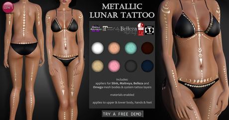 Izzie's - Metallic Lunar Tattoo
