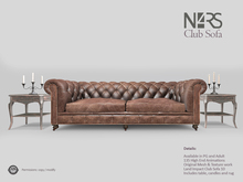 N4RS Club Sofa - PG - with High End Animations, includes side table, candles and rug