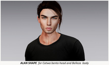 .QUENBY. -  Alan Shape  for Catwa mesh head Daniel and Belleza Jake male mesh body