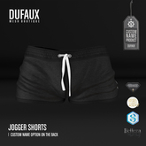 DUFAUX - jogger shorts *custom name* - black