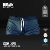 DUFAUX - jogger shorts *custom name* - blue