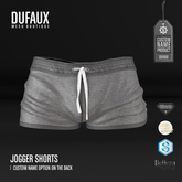 DUFAUX - jogger shorts *custom name* - gray