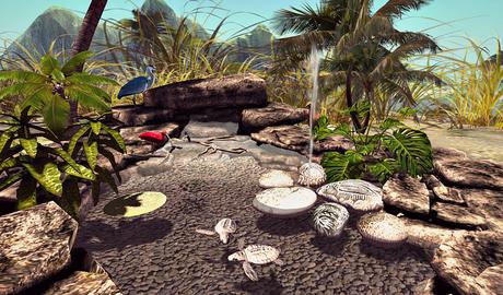 CJ Cascading Pond - tropical ~ c + m ~