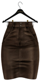 fame femme : Iris Leather Skirt - Brown
