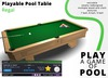 Playable Pool Table: Regal