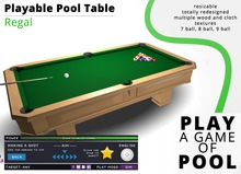 Playable Pool Table: Regal