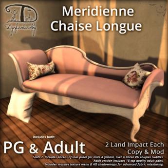 [DDD] Meridienne Chaise Longue - 2 LI, Tex. Change!