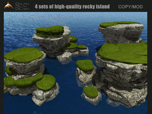 {DOLPHIN DESIGN] Four sets of high-quality rocky island