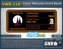 Visitor Welcome Board - VWB-210