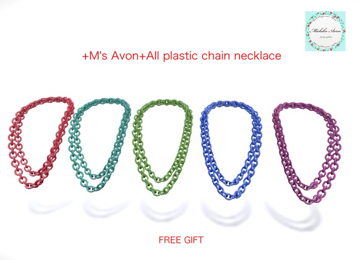 +M's Avon+All plastic chain necklace
