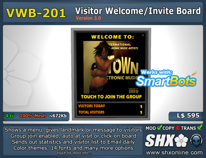 Visitor Welcome Board - VWB-200