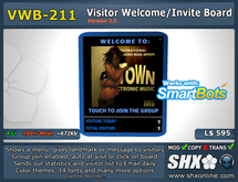 Visitor Welcome Board - VWB-211