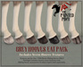 The Painted Pony ~ GREY Hooves Fat Pack for *WH* Riding horse