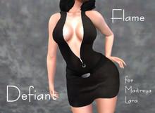 Defiant-flame-Zipper dress-black