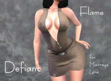Defiant-flame-Zipper dress-brown