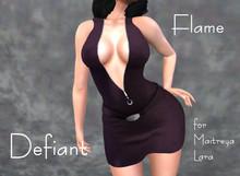 Defiant-flame-Zipper dress-purple