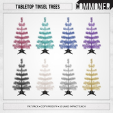 [Commoner] Tabletop Tinsel Trees / Fat Pack